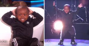 Малыш танцует хип-хоп