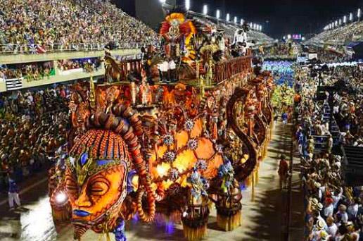 на Карнавале в бразилии
